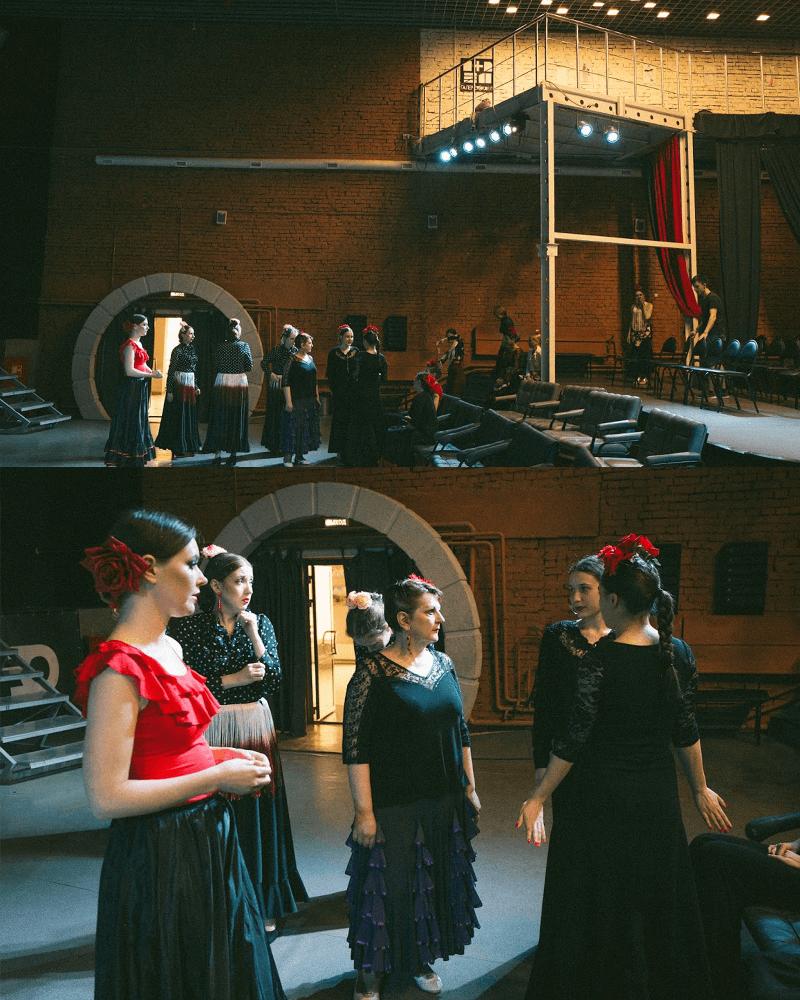Подготовка к концерту фламенко