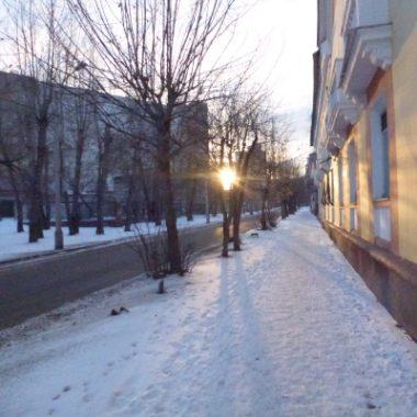 Спокойное зимнее солнце